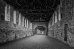 Camino cubierto Vigevano imagen de archivo