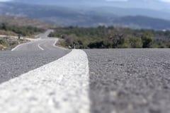 Camino curvado fotos de archivo