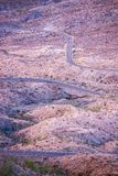 Camino curvado de California Imagen de archivo libre de regalías
