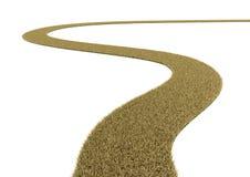 Camino curvado de la hierba seca en el fondo blanco Imagen de archivo libre de regalías