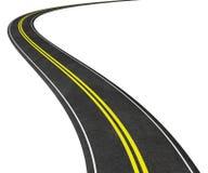 Camino curvado en el ejemplo blanco 3D Fotografía de archivo libre de regalías