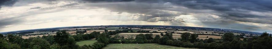 Camino curvado horizonte de la estación de Waddington Imagen de archivo libre de regalías