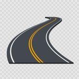 Camino curvado perspectiva Vector libre illustration