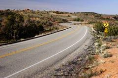 Camino Curvy fotos de archivo