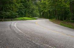 Camino Curvy de la montaña Fotografía de archivo libre de regalías