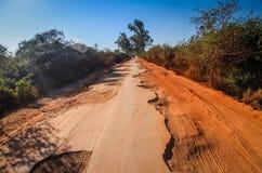 Camino dañado Foto de archivo