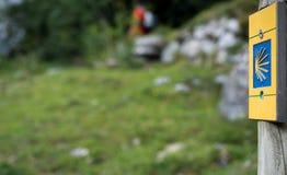 Camino de圣地亚哥标志 免版税图库摄影