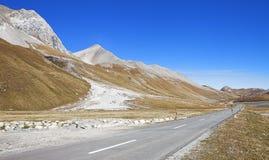 Camino de Albulapass Fotografía de archivo libre de regalías