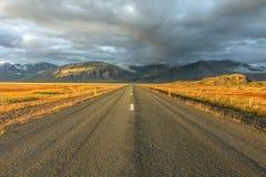 Camino de anillo, Islandia fotografía de archivo libre de regalías
