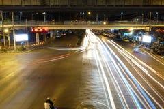 Camino de Bangkok en la noche Foto de archivo