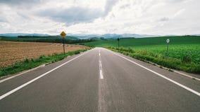 Camino de Biei Foto de archivo libre de regalías