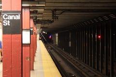 Camino de carril del subterráneo Foto de archivo