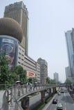 Camino de Chunxi, Chengdu, China Imágenes de archivo libres de regalías