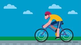 Camino de ciclo almacen de video