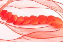 Camino de corazones rojos Imagen de archivo