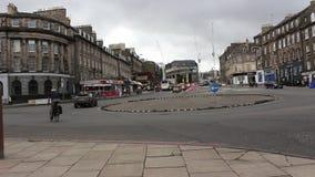 Camino de Edimburgo Escocia 2018 Tiempo de la tarde almacen de video