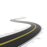 Camino de enrollamiento. Vector. Imagen de archivo