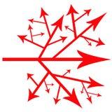 Camino de flechas Imagenes de archivo