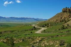 Camino de Jeep, Wyoming Foto de archivo libre de regalías