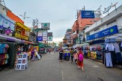 Camino de Khao San en Bangkok, Tailandia Foto de archivo libre de regalías