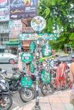 Camino de Khao San en Bangkok, Tailandia Imágenes de archivo libres de regalías