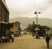 Camino de la alameda, Shimla Foto de archivo