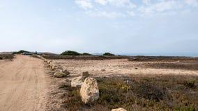 Camino de la arena en Algarve Fotos de archivo libres de regalías