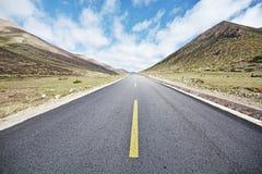 Camino de la autopista sin peaje Imagen de archivo libre de regalías