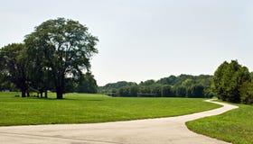 Camino de la bici del parque fotos de archivo libres de regalías