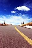 Camino de la bici el cielo Imagen de archivo