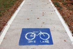 Camino de la bicicleta Imágenes de archivo libres de regalías