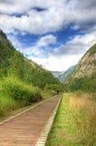 Camino de la caminata en el valle Fotos de archivo libres de regalías