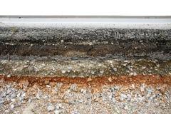 Camino de la capa del asfalto Imagen de archivo