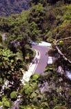 Camino de la colina con el coche Fotografía de archivo
