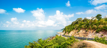 Camino de la costa Fotos de archivo libres de regalías