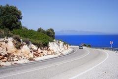 Camino de la costa costa imagen de archivo libre de regalías