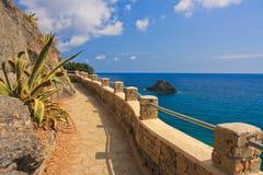 Camino de la costa de mar Imágenes de archivo libres de regalías