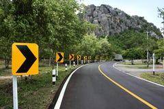 Camino de la curva Imagen de archivo