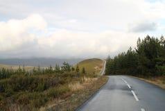 Camino de la curva en la montaña Imágenes de archivo libres de regalías
