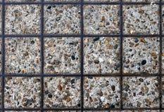 Camino de la grava con la célula del metal Fotografía de archivo