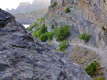 Camino de la montaña Fotos de archivo libres de regalías