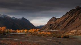Camino de la montaña de Altai foto de archivo