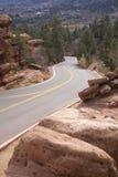 Camino de la montaña de Colorado Fotografía de archivo libre de regalías