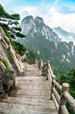 Camino de la montaña de Huangshan Foto de archivo libre de regalías