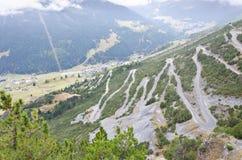 Camino de la montaña de la bobina Imagen de archivo libre de regalías