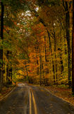 Camino de la montaña de Maryland Imágenes de archivo libres de regalías