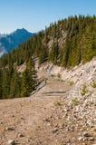 Camino de la montaña del azufre Foto de archivo libre de regalías
