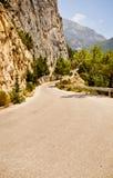 Camino de la montaña en Grecia Foto de archivo libre de regalías