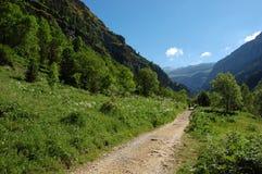 Camino de la montaña en Pyrenees Fotografía de archivo libre de regalías