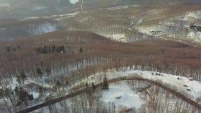 Camino de la montaña Nevado almacen de metraje de vídeo